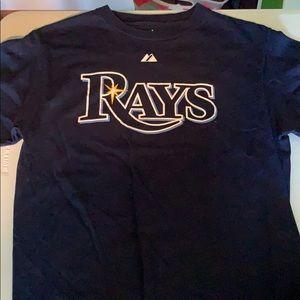 Majestic Rays Evan Longoria shirt